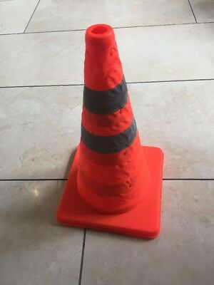 """18"""" Pop Up Collapsible Portable Safety Cone Football Traffic Posts Driving Cones"""