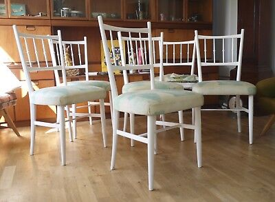 Set of 6 vintage 50s Italian dining chairs. Chiavari Spinetto style