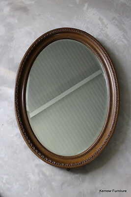 Large Antique Oval Wall Mirror