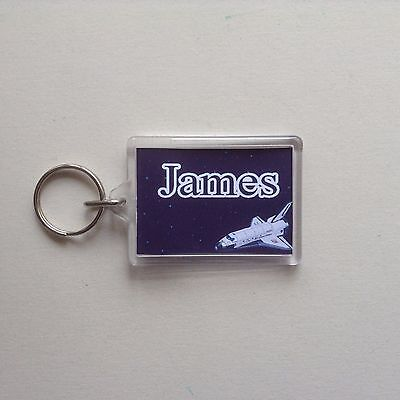 Personalised Keyring/ Bag ID  - Space  Design