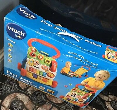 VTech First Steps Baby Walker comes in box very good condition