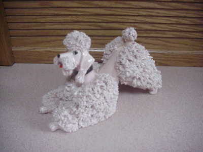 Jane Callender Larger Pink Spaghetti Poodle - 7 Inches Long-4-1/4 Inches High
