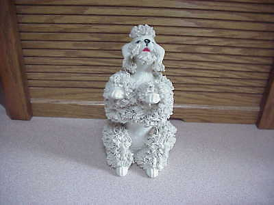 White 7 Inch Tall  Spaghetti Poodle - Hard To Find This Tall - Size Comparison