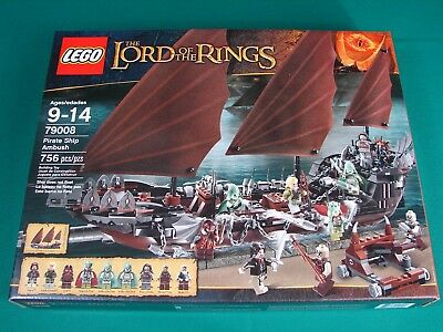 Lego 79008 Lord Of The Rings Pirate Ship Ambush Displayed Condition