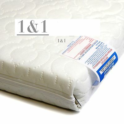 New Cot Mattress Foam Cot Bed Mattress Baby Junior Toddler - Quilted - All Sizes