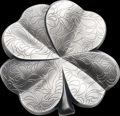 2018 Silver Fortune Four Leaf Clover Shaped Silver Coin - $5 Palau