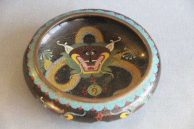 Antique 19th Century Chinese Qing Period Cloisonne  Brush Wash / Bowl