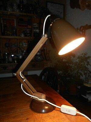 Vintage Retro MacLamp Brown desk table lamp