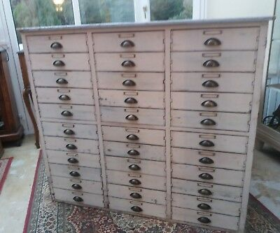A Stunning Very Large Shop / Haberdashery 33 Drawer Chest Cabinet