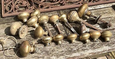 18 Various Antique Brass Door Knobs.