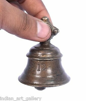 Rare Vintage Handicraft High Age Brass Ritual Temple Bell, Good Sound. i9-48