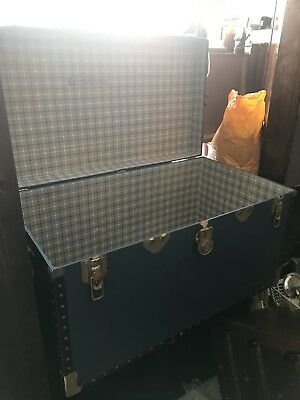 Large Vintage Travel Trunk Attic Find Salvage