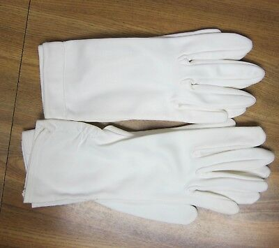 Vintage Ladies Dress Gloves - Lot Of 2 Pairs - White, Wrist Length, Small