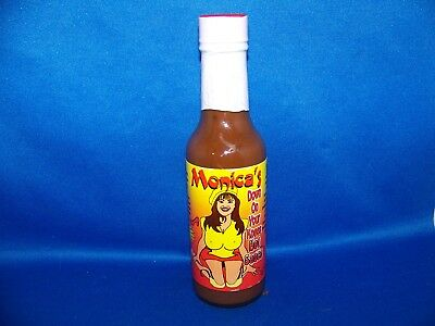 Vintage Monica's Down On Your Knees Hot Sauce (Bill Clinton)