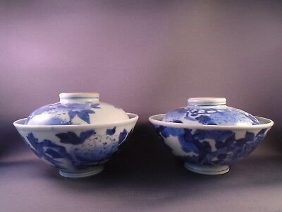 Antique Japanese Gaiwan-Ko Imari Arita ware Blue & white w Fuku mark-Hizen