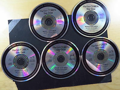 5 CD Luisterboeken Audiobook Harlan Coben Stay Close Scott Brick