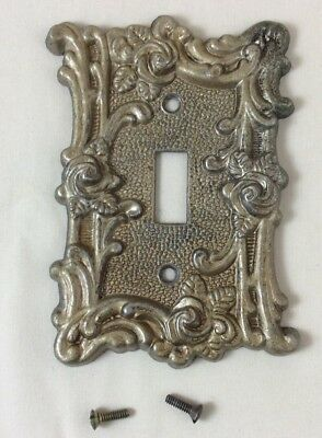 Vintage American Tack & hdwe Co 1967 Light Switch Metal Plate #60T