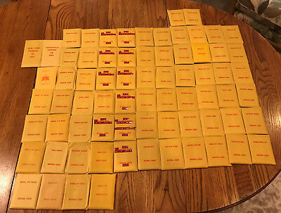BIG Lot of 72 Vintage Mostly 1970s APBA Baseball Game Team Packets W/Some Extras