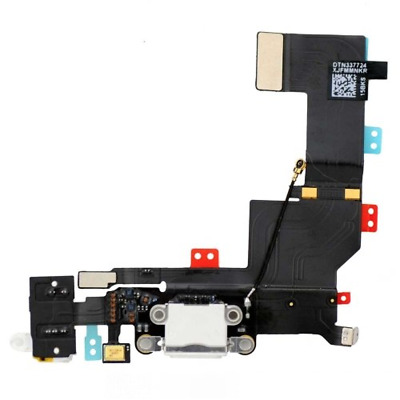 Conector Dock de carga de 3,5 mm puerto Flex Cable para iPhone 5s Blanco