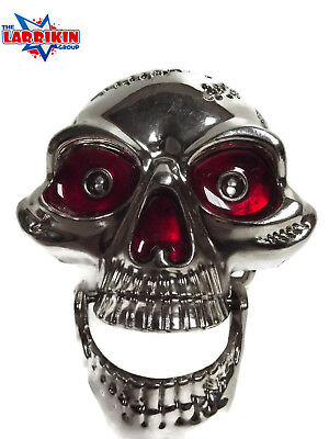 Awesome New Flashing Eyes Laughing Skull Metal Belt Buckle With Hinged Jaw