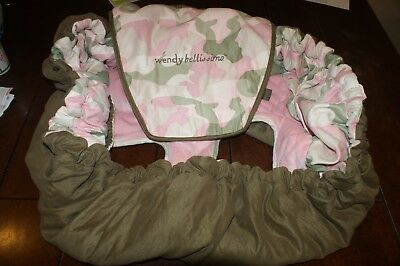 Wendy Bellissimo shopping cart/high chair cover lux seat cover Pink CAMO