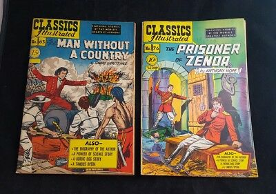 THE MAN WITHOUT A COUNTRY 1949 Classics Illustrated #16, 63, 76 And #80 Lot Of 4