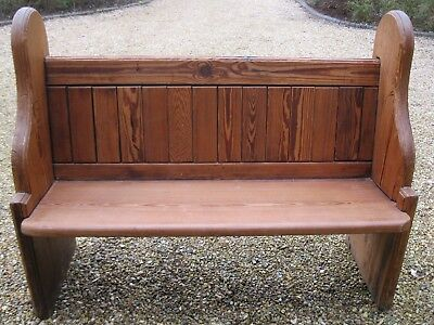 1.2m CHURCH PEW.  Delivery poss. MORE PINE PEWS, CHAPEL CHAIRS & TABLES FOR SALE