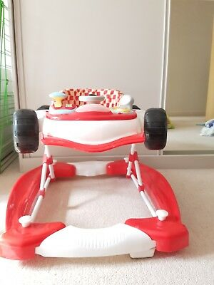 My Child Baby Walker / Rocker-Red Musical 6 Months+ With Play Tray