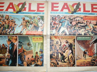 Two ( 2 ) Eagle Papers for Boys July 1962