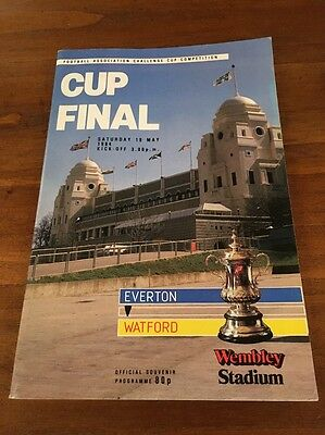 1984 FA Cup Final Official Programme - Everton V Watford