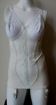 Vintage Slim Jim open bottom all-in-one girdle 34B