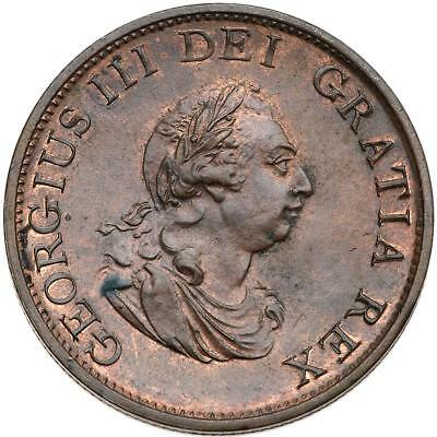 Great Britain. Halfpenny, 1799. 3778; KM-647. George III. Uncirculated.