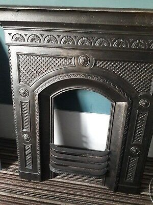 Vintage 1910/1920 Black cast iron fireplace