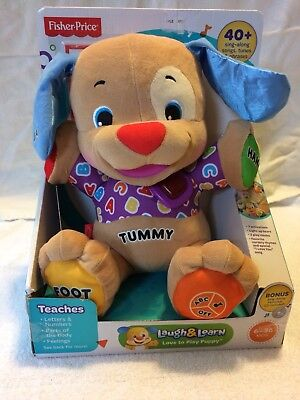 Fisher Price Laugh And Learn Love To Play Puppy Bonus Sing Along Cd