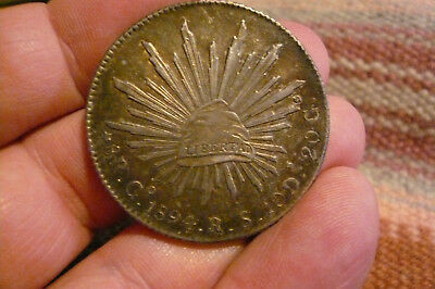 1894 Mexico Eight Reales Go /R.S.