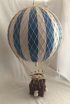 Hot Air Balloon Gas Blue & White Striped Model Hanging Aviation