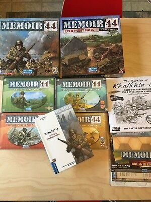 Memoir 44 Lot New Out of Shrink Wrap Base Game Equipment Pack Etc..........