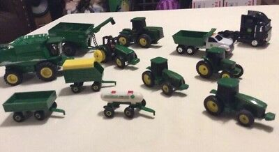 ERTL JOHN DEERE GREEN FARM DIECAST TOYS 1/64 Lot Of 12 Pcs.