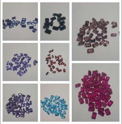 Cubic Zirconia Loose Stone 6.4mm Octagon Shape Crystal Gems - 3pcs for £1
