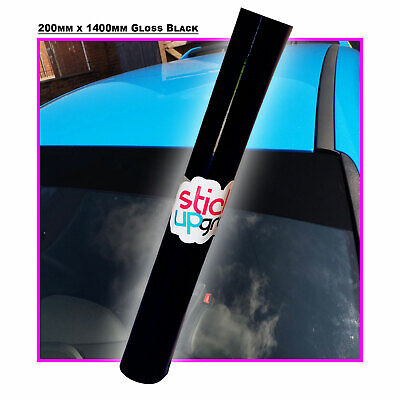 Gloss Black Vinyl Sun strip for Cars Racing Rally Touring visor 200mm x 1400mm