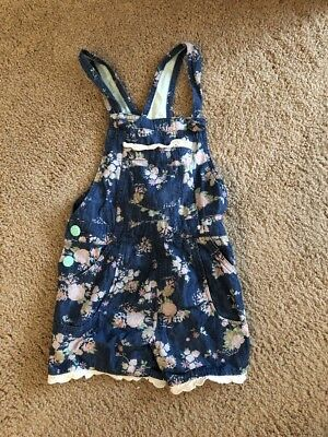 Matilda Jane The Adventure Begins Size 6 Playground Romper Denim Floral Lace