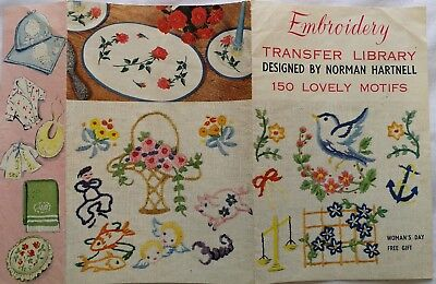 Vintage Embroidery transfer library motifs by Norman Hartnell