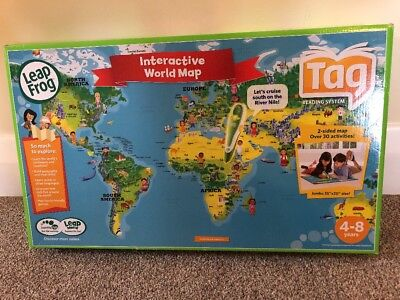 Leapfrog tag interactive world map new 1000 picclick uk leapfrog tag reading system interactive world map 4 8 years pen not included gumiabroncs Gallery