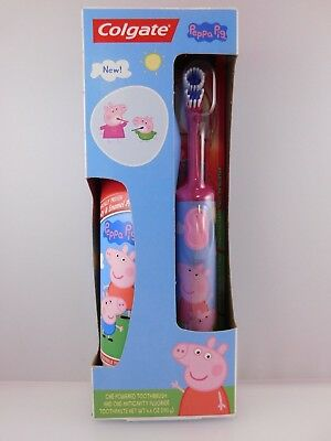 Peppa Pig Colgate Toothpaste and Pink Battery Operated Toothbrush