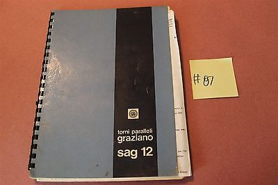 Tori Parallelli SAG12  Original Operation & Maintenance Manual Lot # 87