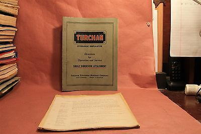 Turchan Hydraulic Duplicator Operation & Maintenance Manual