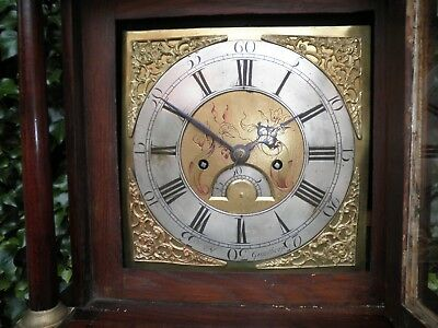 Antique Georgian  Grandfather Clock Vgc For Hospital Charity