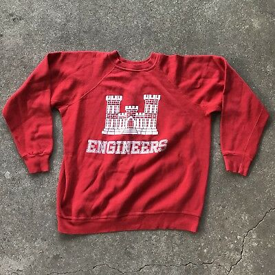 Vintage Vietnam Era US Army Corps Of Engineers Sweatshirt 60s 70s