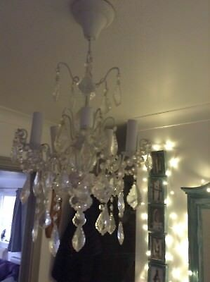 cut glass chandelier With 5 Candles
