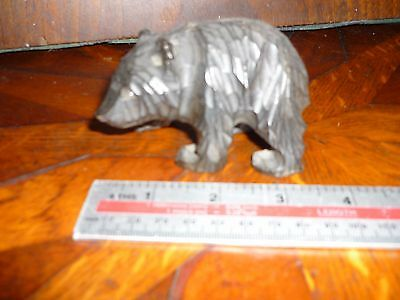 Black Forest Carved Wood Bear Medium Size
